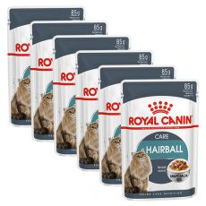 Royal Canin HAIRBALL CARE - tasak 6 x 85g