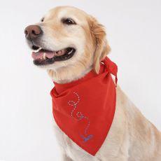 Élősködők és paraziták ellen védő kendő kutyáknak - piros XL