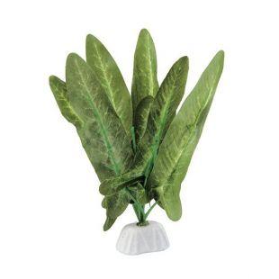 Selyem növény akváriumba- műanyag, 12cm