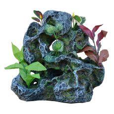 Akváriumi dekoráció  2159 - szikla növényekkel