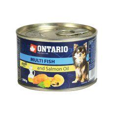 ONTARIO konzerv Multi Fish lazacolajjal – 200g