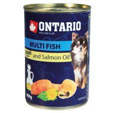 ONTARIO konzerv Multi Fish lazacolajjal– 400g