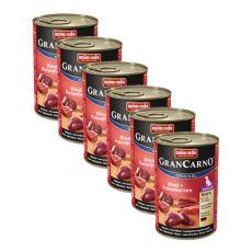 GranCarno Original Senior konzerv marhahússal és pulykaszívvel - 6 x 400g
