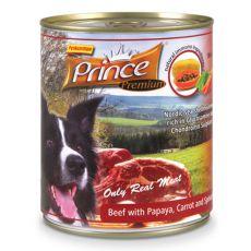 PRINCE Premium konzerv – marhahús papájával, répával és spenóttal 800g