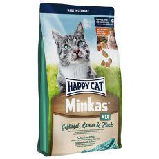 Happy Cat Minkas MIX - baromfi, bárányhús és hal - 10kg