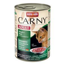 CARNY ADULT konzerv marhahússal, őzhússal és tőzegávonyával - 400 g