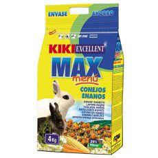 KIKI EXCELLENT MAX MENU - táp törpenyúlnak 4kg