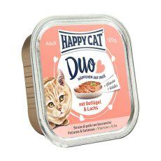 Happy Cat DUO MENU - csirke és lazac, 100g