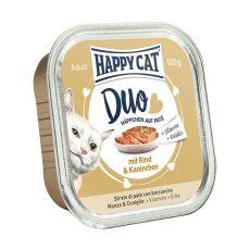 Happy Cat DUO MENU - marha és nyúl, 100g