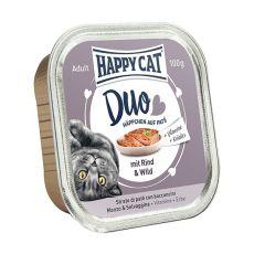 Happy Cat DUO MENU - marha és vadas, 100g