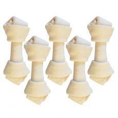 Rasco fehér rágóka bivalybőrből, 6,26cm / 5 db