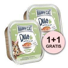 Happy Cat DUO MENU - csirke és bárány, 100g + 100g AJÁNDÉK