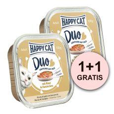 Happy Cat DUO MENU - marha és nyúl, 100g + 100g AJÁNDÉK