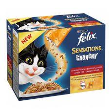 Felix Sensations Crunchy - hús kombináció és Crumbles 10 x 100g