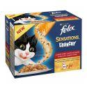 Felix Sensations Crunchy - húsfalatok és Crumbles 10 x 100g