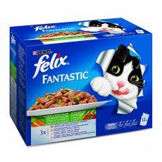 Felix Fantastic - hús és hal kombinációk zöldséggel, 12x100g