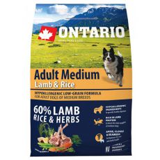 ONTARIO Adult Medium Lamb & Rice 0,75kg