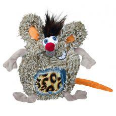 Játék kutyák számára - plüss patkány, 17 cm