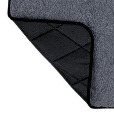 Szürke kutyus melegítő alátét - 60x40cm