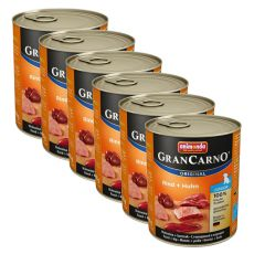 GranCarno Fleisch Junior baromfi+ nyúl - 6 x 800g