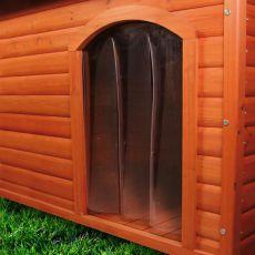 Kutyaházra alkalmas ajtó, műanyag - 34x52cm