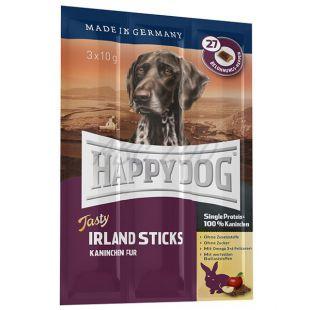 Happy Dog Tasty Irland Sticks - nyúlhús ízű pálcika 3x10g