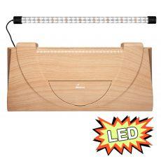 Akváriumfedél világítással 60x30cm LED EXPERT 13W - BÜKK, egyenes