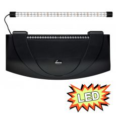 Akváriumfedél világítással 60x30cm LED EXPERT 13W - FEKETE, íves