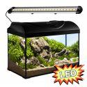 Akvárium STARTUP 50 LED EXTRA 2x5,7W - EGYENES - FEKETE