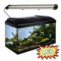Akvárium STARTUP 60 LED Extra 2x7,2W - EGYENES - FEKETE