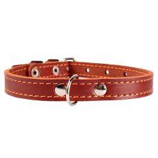 Bőr nyakörv kutyák számára - 24- 32cm, 12mm - barna