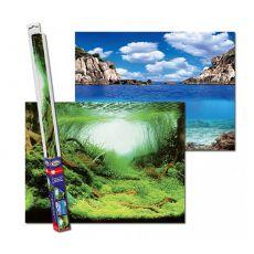 Akváriumi háttér PLANTS/OCEANS L - 100 x 50cm