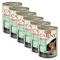CARNY KITTEN macskaeledel -marhahús, nyúl és csirkehús 6 x 400 g