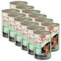 CARNY KITTEN macskaeledel -marhahús, nyúl és csirkehús 12 x 400 g
