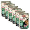 CARNY ADULT konzerv marhahússal, őzhússal és tőzegávonyával - 6 x 400 g