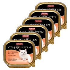 Animonda Vom Feinsten Castrated Cats - pulyka + lazac 6 x 100g