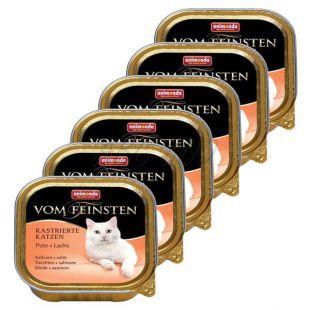 Animonda Vom Feinsten Castrated Cats - pulyka + lazac 6 x 100g