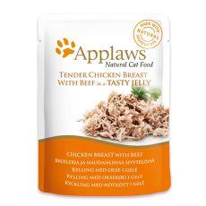 APPLAWS Cat Pouch, csirke és marha aszpikban 70g