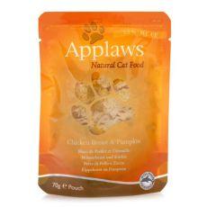 APPLAWS Cat alutasak,  csirke és sütőtök 70g