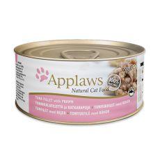 APPLAWS Cat konzerv,  tonhal  és garnéla 70g