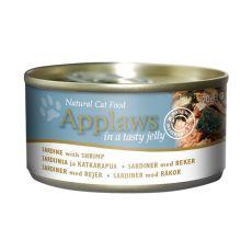 APPLAWS Cat konzerv,  szardella és garnélarák aszpikban 70g