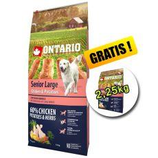 ONTARIO Senior Large chicken & potatoes 12kg + 2,25kg