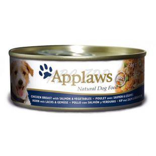 APPLAWS dog konzerv csirke, lazac és zöldség 156g