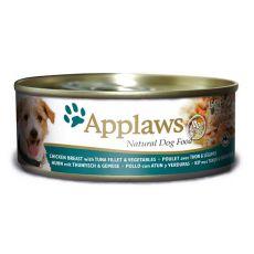 APPLAWS dog konzerv csire, tonhal és zöldség 156g