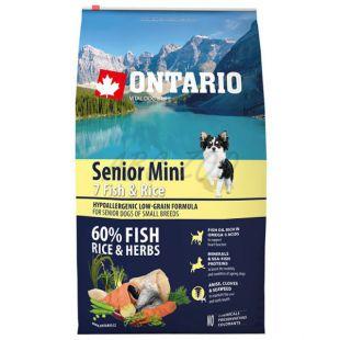 ONTARIO Senior Mini 7 Fish & Rice 0,75kg