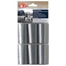 8in1 Kutyapiszok-zacskó utántöltő - 6 x 15 db