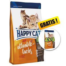 Happy Cat Adult Atlantik-Lachs, 10kg + 4kg GRATIS