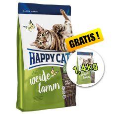 Happy Cat Supreme Adult Weide-Lamm 4kg + 1,4kg INGYEN