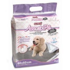 Tisztasági alátét kutyáknak aktív szénnel 60 x 60 cm, 10 db