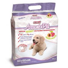 Gyümölcsös illatú helyhez szoktató pelenka kutyák részére 60 x 60 cm, 10 db